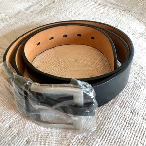 Other - Men's Black Genuine Leather Belt - NWOT